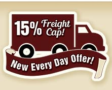 Every Day Offer 15 Percent Freight Cap